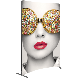 Vector Frame Curved 03 Fabric Banner Display